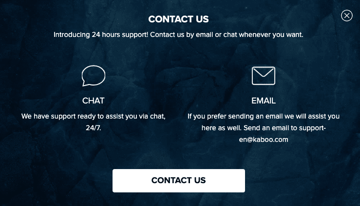 Kaboo Customer Support