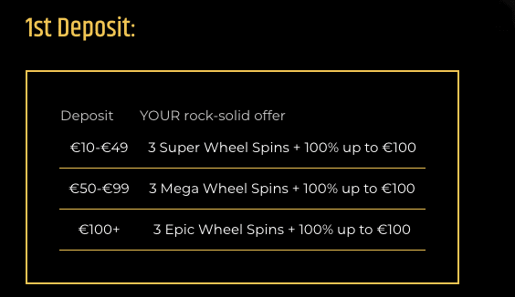 Metal Casino Bonuses