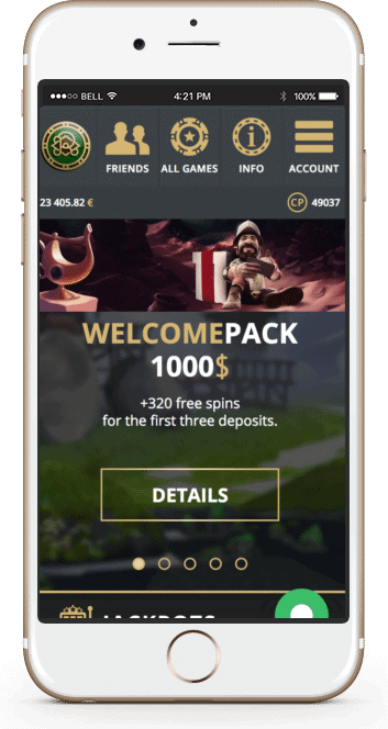 Riobet mobile welcome bonus