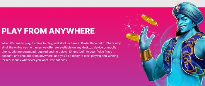 Pokie Place Mobile Casino