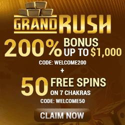 Grand Rush Casino bonus banner 250x250