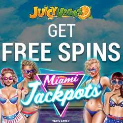 Juicy Vegas Casino free spins banner 3
